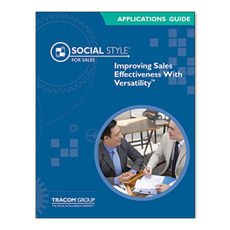 Improving Sales Effectiveness with Versatility™ Applications Guide