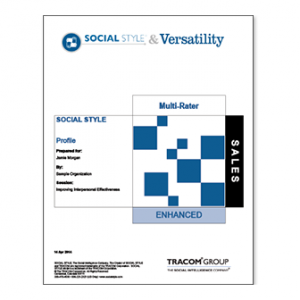 Sales Multi-Rater SOCIAL STYLE & Enhanced Versatility Profile