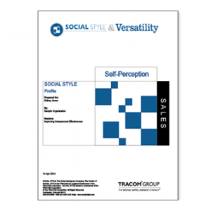 Sales Self-Perception SOCIAL STYLE & Versatility Profile